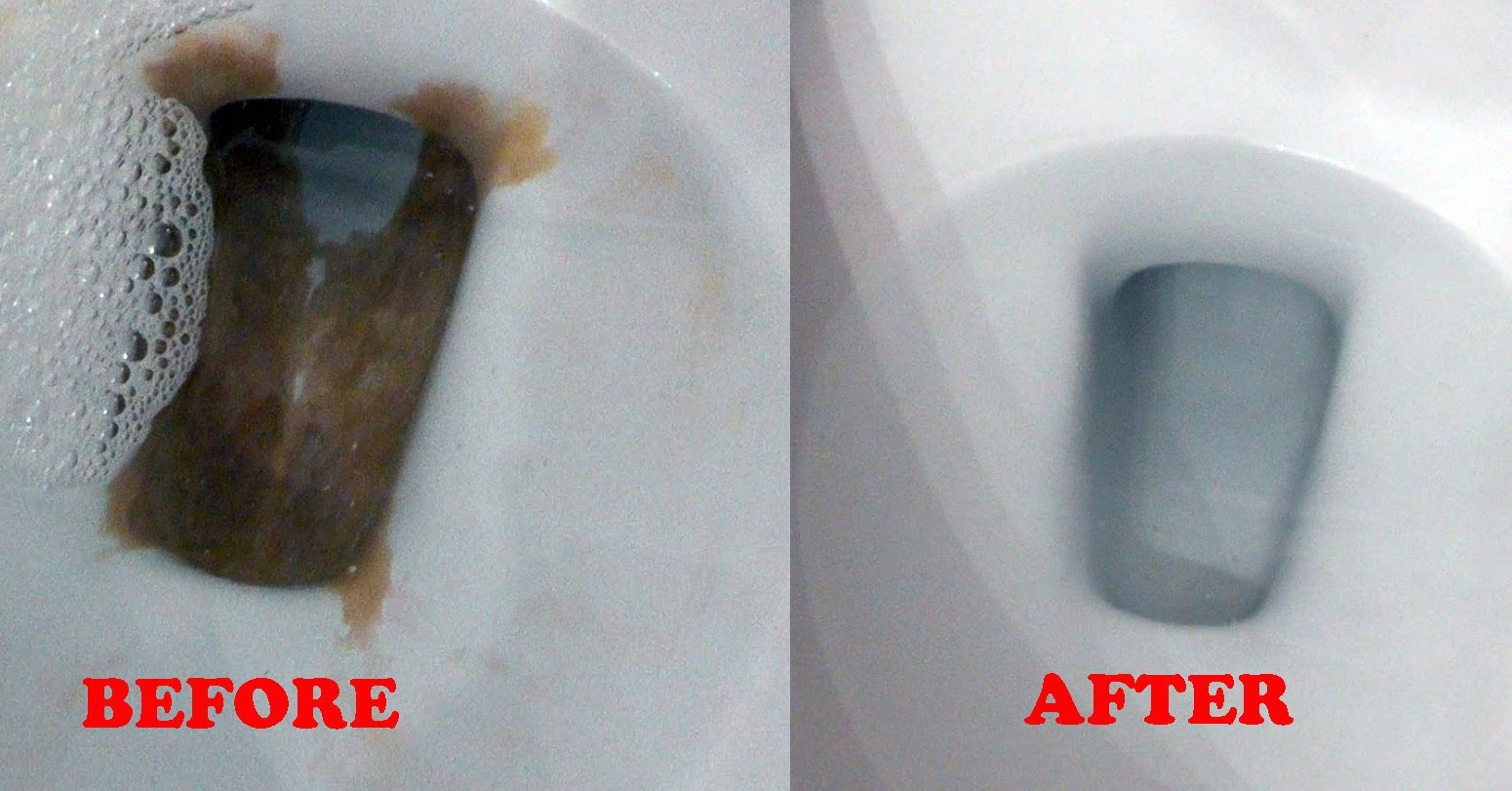 How To Remove Stubborn Hard Water Stains From Toilet