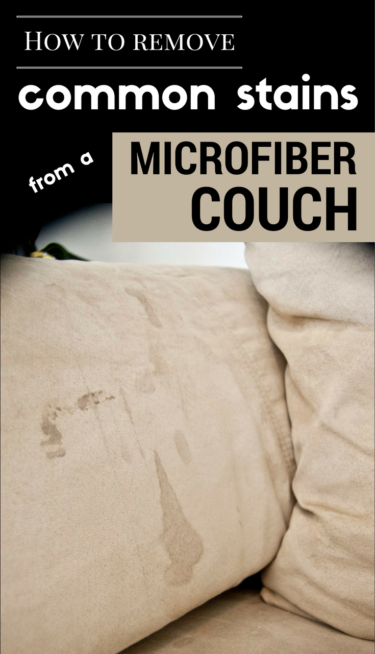 How To Remove Common Stains From A Microfiber Couch
